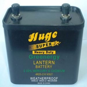 6V power High Quality Carbon Zinc dry cell Battery (4R25) pictures & photos