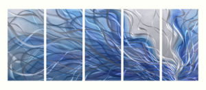 Blue Abstract Metal Painting with 100% Hand-Made pictures & photos