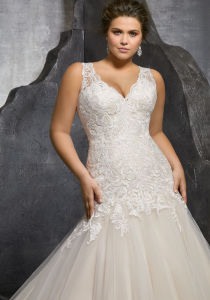 Sleeveless Bridal Gowns Plus Size Mermaid Wedding Dress Lb3236 pictures & photos