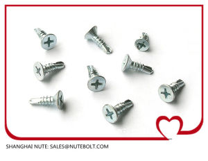 Stainless Steel 304 316 410 Flat Head Self Drilling Screws St2.9 to St6.3 pictures & photos