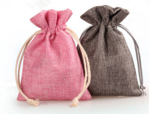 Linenette Drawstring Gift Bags (FLY-SS70003) pictures & photos