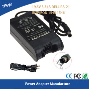 19.5V 3.34A Power Adapter for DELL PA-21 Inspiron 1545 1546 Battery Charger pictures & photos