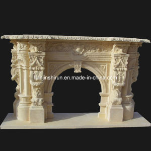 Marble Carving Fireplace (FRP517) pictures & photos