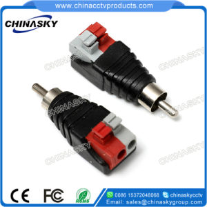 CCTV Male RCA Connector with Screwless Terminal (RC102) pictures & photos
