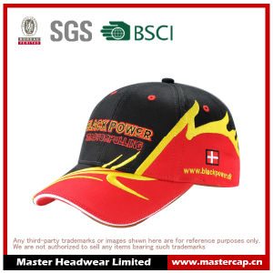 100% Cotton Racing Cap with 3D Embroidery Logo pictures & photos