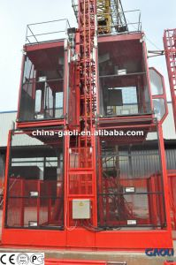 Electric Motor with Double Cage CE Approved Building Construction Elevator (SC200/200) pictures & photos