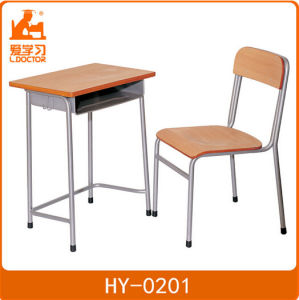 Metal Wood Student Table and Chair Sets pictures & photos