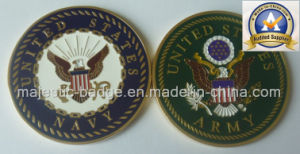 Soft Enamel Process USA Army& Navy Coins (MJ-COINS-002) pictures & photos