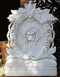 Natural White Marble Wall Fountain with Lion pictures & photos