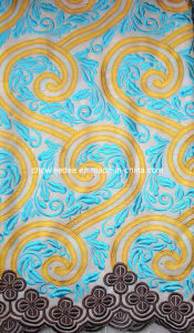 Top Quality African Embroidery Lace Cotton Fabric (CL3003-1)