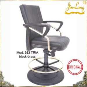 Lounge Chair Mod. 983 Tria Black-Brass