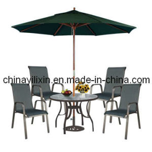 Classical 6-Piece Patio Dining Set with Umbrella (YLX-1002)