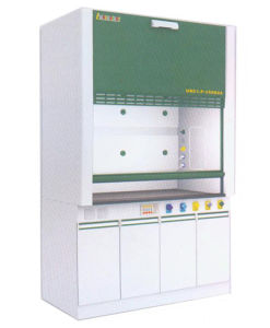 Steel and Wood Lab Fume Hood