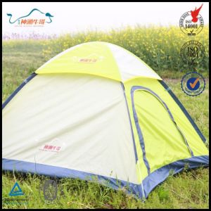 4-6 Person 3 Rooms Thicken Canvas Folding Dome Tent