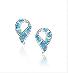 925 Sterling Silver Earrings with Opal (LOP1100)