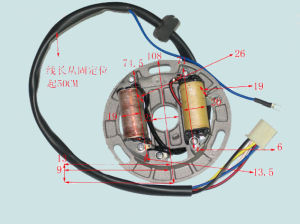 Yog Motorcycle Electrical Parts Motorcycle Magneto Coil Suzuki Ax100 pictures & photos