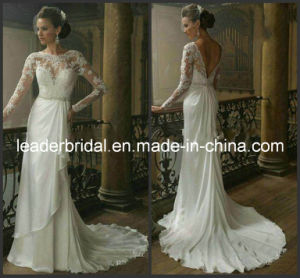 Long Sleeves Bridal Wedding Dresses Lace A-Line Wedding Gowns W14716 pictures & photos