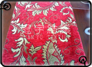 Polyester Chenille Jacquard Home Textile Fabric pictures & photos