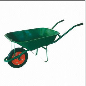 Wheelbarrow with Steel Tray, Pneumatic Wheel