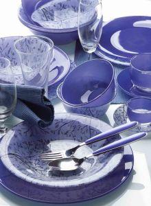 Opal Glassware Dinner Set