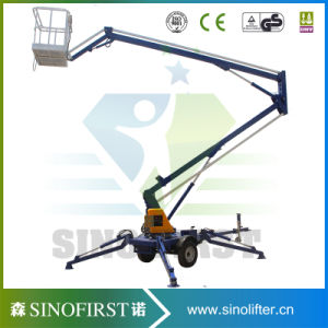 High Quality Stable Aerial Towable Basket Man Lift pictures & photos