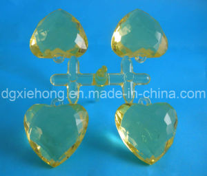 Plastic Heart Bead for Jewelry and Decoration (XH-D-3007)