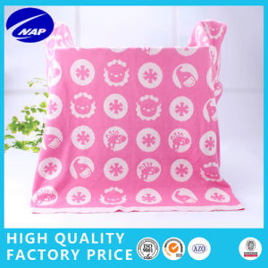 100% Cotton Woven Jacquard Lovely Blanket Baby Blanket with Perfect Quality