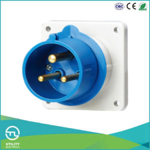 IP44 IEC Cee Panel Mounted Plug for Industrial Connector pictures & photos