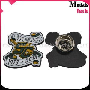 Custom Shape Cheap Die Struck Iron Metal Dance Lapel Pins/Badges pictures & photos