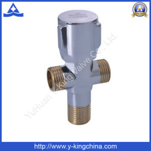 Brass Double Sanitary Angle Valve (YD-5008) pictures & photos