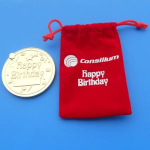 Customized Happy Birthday 24k Gold Coin with Gifts Box pictures & photos