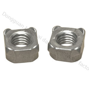 Square Welded Nuts with Machine Thread (HK018)