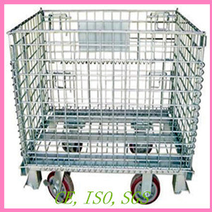Wheeled Wire Mesh Container