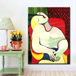 Home Decoration Wall Art on Canvas Abstract Oil Painting Reproduction Pablo Picasso Famous Canvas Prints for Home Hotel Office Wall Hanging