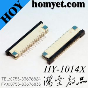 1.0mm Pitch 14p FPC Connector (HY-1014X) pictures & photos