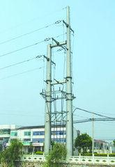 500kv Tangent Transmission Line Double Monopole Structure pictures & photos