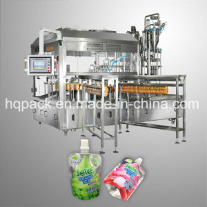 Fully Automatic Spouted Pouch Filler for Liquid Beverage pictures & photos