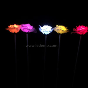 LED Christmas Light Textile Flower Light for Garden Decoration pictures & photos