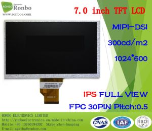 "7.0"" IPS 1024*600 Mipi 30pin 280CD/M2 Full View TFT LCD Module pictures & photos"