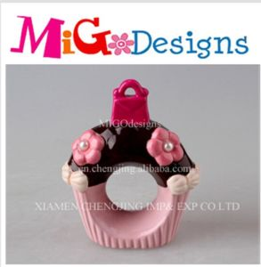 Wholesale Cupcake Napkin Pink Ceramic Canister pictures & photos