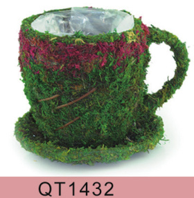 Cup Shaped Moss Flower Pot for Home and Garden Decoration pictures & photos
