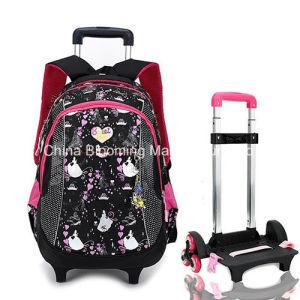 Kids Lovely Children Girls Wheel Trolley Rolling School Bag pictures & photos