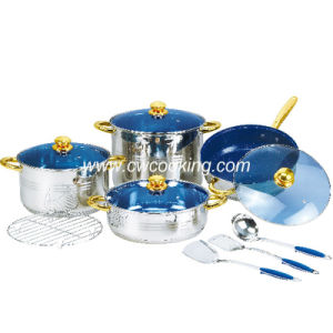 12PCS Stainless Steel Cookware Set - Marble Non Stick Coated. pictures & photos