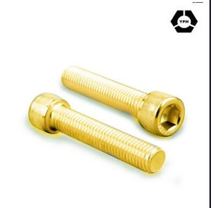DIN912 Hex Socket Head Cap Bolts with Yellow Zinc pictures & photos