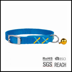 Personalised Cheap Christmas Blue Nylon Quick Release Cat Kitten Collar pictures & photos
