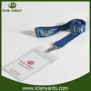 Wholesale Clear PVC Name ID Card Badge Holder with Lanyard pictures & photos