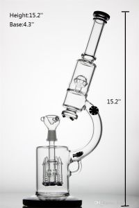 Glass Smoking Pipe Microscope Model with Four Black Rockets Percolator and Basketball Recycler Thickness Base and Mouthpiece pictures & photos