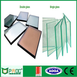 Double Glazing Aluminum Vertical Sliding Window pictures & photos