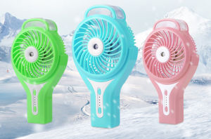 Portable Charging atomizing USB mini fan with 3 level wind speeding-Pink pictures & photos