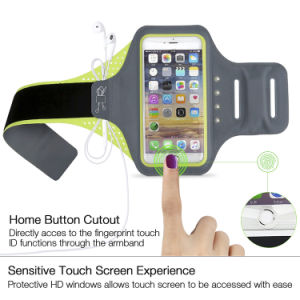 Ultrathin Lycra Self-Powered LED Mobile Armband with Fingerprint Unlock pictures & photos